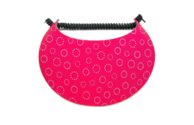 Sun Visor - Red with Gold Circles